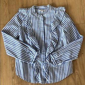 Madewell Long Sleeve Button Down Shirt, M
